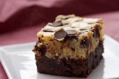 Black Bottom Brownies - the bottom layer is a dark-chocolate brownie, then that's topped with a cheesecake layer that's sprinkled with chocolate chips.  In other words - YUM!!! :D