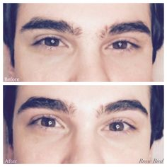 Man brows professionally done for a man, not a woman's brows on a man!  No diva brows for men please.  Every hair makes a difference!  Professional shaping can make all the difference!  Brows by Jacqueline (esthetician in Austin, TX)  website: BrowBird.com. Instagram: Brow_Bird