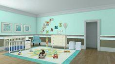 Nursery Room #autodeskhomestyler #kristy #peaceful #babyboy #interiordesign #decoration