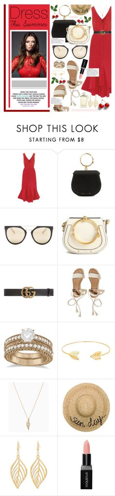 """""""Dress This Summer"""" by karolinapl ❤ liked on Polyvore featuring Saloni, Dolce&Gabbana, Chloé, Diane Von Furstenberg, Gucci, Hollister Co., Allurez, Lord & Taylor, Eugenia Kim and Steve Madden"""