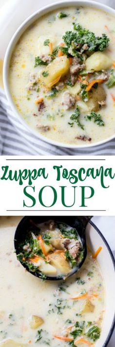 Zuppa Toscana Soup Recipe. ValentinasCorner.com