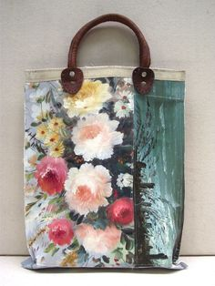 Image of Painting Bag - Floral Collage (free shipping)