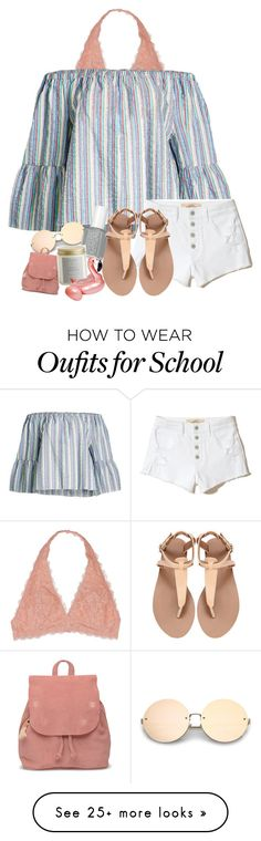 """""""summer bonfire"""" by yasmeen-s on Polyvore featuring Youmita, See by Chloé, Hollister Co., TOMS, Illume and West Elm"""