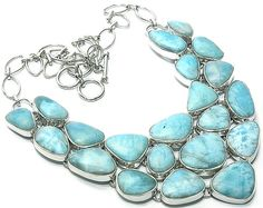 "Nothing says ""I love you"" or ""I'm sorry"" like a big honkin piece of larimar jewelry"