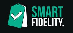 Logotipo SmartFidelity sobre fondo oscuro.  SmartFidelity será una aplicación móvil realizada por Adrián Mateos que permitirá fidelizar clientes ofreciendo ventajas y ofertas con cada compra.