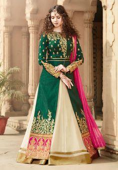 Desi adaptation of persian traditional dress yelek (coat) and daman (skirt)