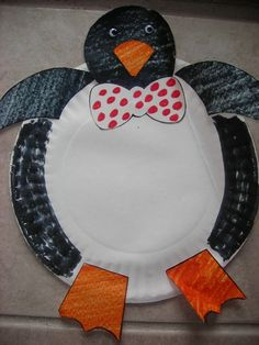 Paper plate penguin & Super site with tons of links to educational videos and activities ...