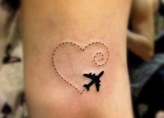 Best representation descriptions: Airplane with Heart Tattoo Related searches: Meaningful Tattoos,Tattoo Drawings,Inspirational Tattoo Idea. Tattoo Inspiration, Travel Inspiration, Tattoo Fleur, Airplane Tattoos, Image Clipart, Travel Scrapbook, Travel Alone, Kid Friendly Meals, Travel Essentials