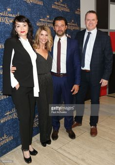 Actors Sarah Strange, Lori Loughlin, Steve Bacic, and Kevin O'Grady attend the premiere of Hallmark Movies & Mysteries' 'Garage Sale Mystery' at The Paley Center for Media on August 1, 2017 in Beverly Hills, California.