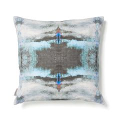 Abstract expressionism brought to life in desaturated colors, the Poolside pillow repeats fluid designs in soft hues. Hand-painted patterns and digital printing create works of functional art. Kaleidoscope watercolors evoke gently rippling seas, waning sunsets, and the cosmos. Designed in Brooklyn by Shanan Campanaro.