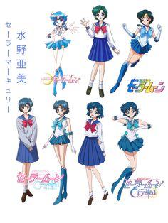 Evolution of Sailor Mercury