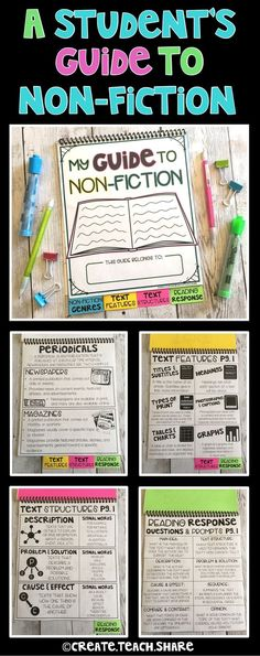 The perfect resource to help introduce students to the genre of Non-Fiction. It is a Reference Guide for students to refer to when learning about, exploring, and responding to non-fiction texts. It is perfect for students in upper elementary!! This flip book is divided into 4 parts: Non-Fiction Genres, Text Features, Text Structures, and Reading Response.