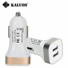 KALUOS Dual Output USB Car Charger For iPhone 5 5S 6 6S Plus Samsung Galaxy S4 S5 S6 S7 Edge Note 5 LG G3 Universal Auto Adapter #clothing,#shoes,#jewelry,#women,#men,#hats,#watches,#belts,#fashion,#style