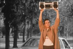 John Cusak as Lloyd Dobbler in 'Say Anything'... ever girl should have a guy that loves her and shows her this much!