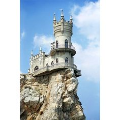 Swallow's Nest, the Sea Castle in Crimea, Russia (Reader Contribution) - Oddee.com found on Polyvore featuring backgrounds, castles, photos, pictures and places