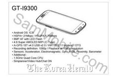Galaxy S3 spec leaked by Samsung employee