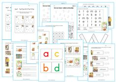 Werkbladenpakket kleuters het letterwinkeltje en het cijferwinkeltje. Busy Boxes, Writing Words, Kids Education, First Grade, Spelling, Activities For Kids, Homeschool, Classroom, Teacher