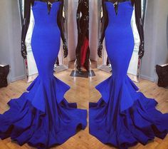 Prom Dress,Charming Prom Dress,Mermaid Prom Dresses,Formal Prom Dresses,Long Prom Dress,Modest Prom Dress,Satin Prom Dress,Royal Blue Prom Dress