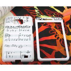 Samsung Galaxy S II Hard Music Symbols Print Front & Back Cover Case Galaxy S2, Samsung Galaxy S, Skull Print, Cow Print, Hard Music, Music Symbols, Angel And Devil, Piano Keys, Film Music Books