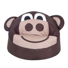 Mickey the Monkey - BazZoo® Childrens Bean Bags, Kids Bean Bags, Stuffed Animal Bean Bag, Mac, Christmas Gifts, Kids Shop, Monkey, Gift Ideas, Furniture For Kids