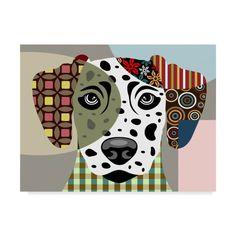 Trademark Fine Art 'Dalmatian Dog' Canvas Art by Lanre Adefioye, Size: 35 x 47 Art Pop, Dog Quilts, Art Plastique, Collage Art, Collages, Dog Art, Animal Drawings, Pet Portraits, Art Lessons