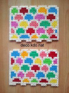 Et voici la maison du père noël pour ce modèle: 4022 perles prix de vente terminé: 22.70€ et voici le détail: ... 3d Perler Bead, Perler Bead Templates, Hama Beads Design, Diy Perler Beads, Pearler Beads, Fuse Beads, Melty Bead Patterns, Pearler Bead Patterns, Beading Patterns