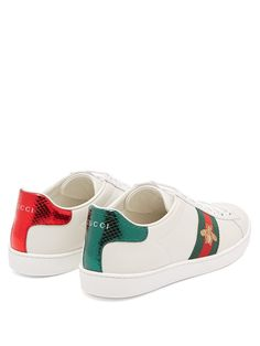 bf95c9ae40b Ace bee-embroidered leather trainers