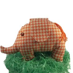 Orange Elephant plushie - Lovely Cuddly Toy . Stuffed Animal . Felt plush . Mabrisa . Children toy gift - pinned by pin4etsy.com
