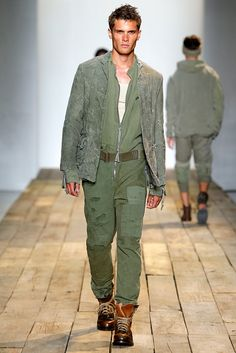 A look from the Greg Lauren Spring 2016 Menswear collection.