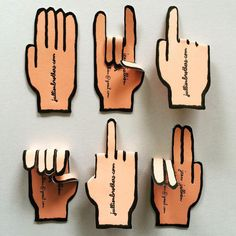 new mini hands business cards printed by by jean_jullien Company Business Cards, Business Card Maker, Unique Business Cards, Business Card Design, High Five, Jean Julien, Bussiness Card, Letterpress Business Cards, Mini Hands