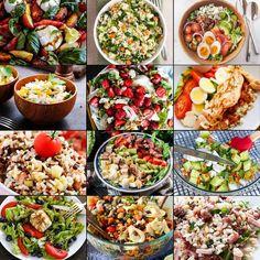 Easy Summer salad recipe ideas to make for get togethers. Greek Orzo Salad, Pasta Salad With Tortellini, Summer Pasta Salad, Summer Lunch Recipes, Best Summer Salads, Asparagus Salad, Feta Salad, Mediterranean Pasta Salads, Blueberry Salad