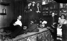 Interesting article about an Opium Antique collector. This is an image Americans smoking opium in a Chinese-run opium den in New York City in 1925.