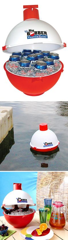Big Bobber Floating Cooler! Have your drink cooler in the pool or by the pontoon... #product_design