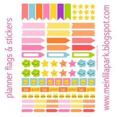 MeinLilaPark – DIY printables and downloads: Free printable planner flags and stickers - ausdruckbare Agenda-Sticker - freebie