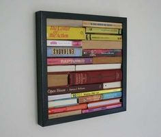 Book spine art. #books Can make it spine poetry/spine story, also.