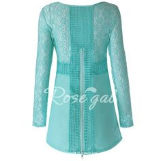 Vintage Round Neck Long Sleeve Spliced Furcal Women's Blouse