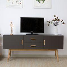 Sombre moderne et minimaliste table basse en bois, Meuble TV blanc section de la Nordic créative salon meuble TV meubles IKEA