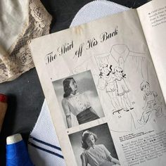Make and Mend for Victory - WWII Sewing Magazine circa 1942 – In The Vintage Kitchen Shop Sewing Magazines, Kitchen Shop, Girls Blouse, Vintage Kitchen, Wwii, Victorious, Children, How To Make, Young Children