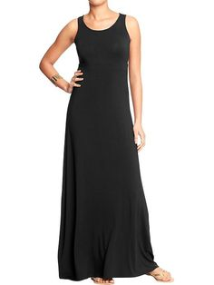 Women's High-Neck Maxi Tank Dresses Product Image