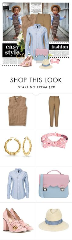 """""""the play'in dress-up, it ain't a game no mo! #SWAGswap"""" by g-vah-styles ❤ liked on Polyvore featuring L.L.Bean, Topshop, Bling Jewelry, Vineyard Vines, Polo Ralph Lauren, La Cartella, Gucci and Maison Michel"""