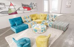 Arianne Love Fabric Modular Sofa by Famaliving contemporary-sectional-sofas