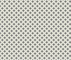 plus_one_gray_and_white_small fabric by holli_zollinger on Spoonflower - custom fabric