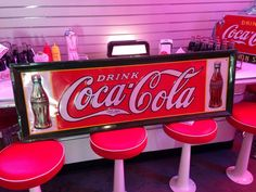 1930's Original COKE Coca Cola Double Bottle Tin Sign With Raised Lettering #CocaCola