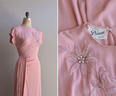 районные 1940 платье / Vintage 40-х годов платье / Prima-ди-на DearGolden