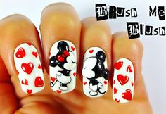 Lovely nails with Mikey and Minnie