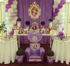Sofia the first party.  Source instagram