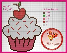 Cupcake cross stitch.