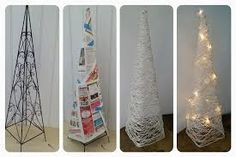 Kuvahaun tulos haulle paperinaru askartelu Ladder Decor, Diy And Crafts, Christmas, Ideas, Weddings, Home Decor, Xmas, Blue Prints, Decoration Home