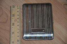 VTG Art Deco Elgin American Sterling Silver Cigarette Case No Mono #Elgin