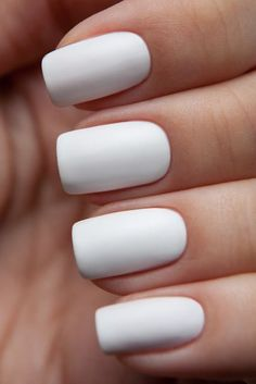 Simple But Artistic Nail Art Collections To Inspire You · VernisMat Ongles  BlancsOngles